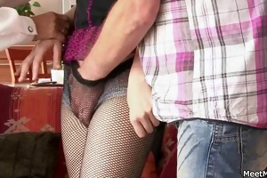 old mama and daddy tempt and group-sex sons gf