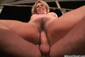 sexually excited aged slut with nice-looking face