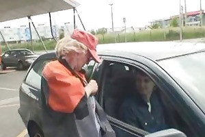 blond granny has some outdoors