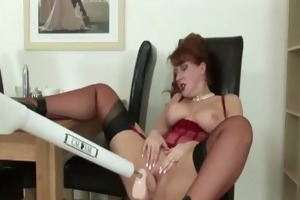 aged stocking shoes wench vibrator play