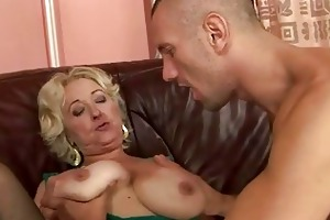 granny enjoying sex with juvenile man