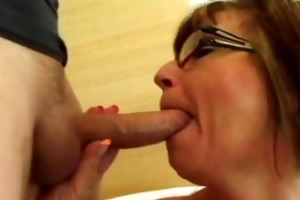 lewd and wicked brunette hair granny