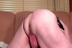 blond cougar pleasuring her aged twat