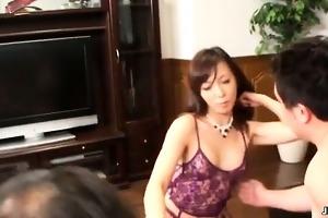 hot oriental slut gets excited taking