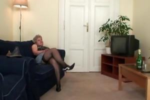 grandma takes dicks after masturbation