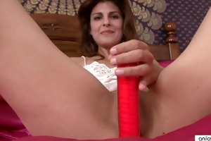 mother i in underware bonks a red sex tool