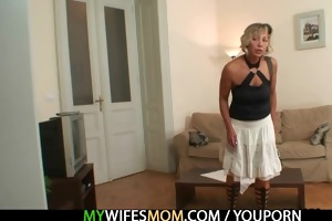 wife finds him fucking her mama