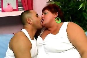 wang groping older big beautiful woman