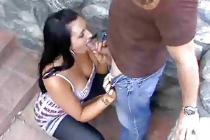 steamy outdoor mother i blowjobs