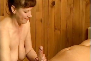 horny aged mommy can titty fucking part1