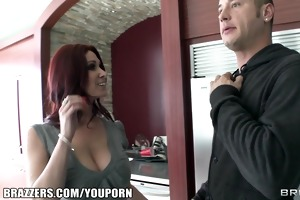 real estate agent with huge natural-tits is