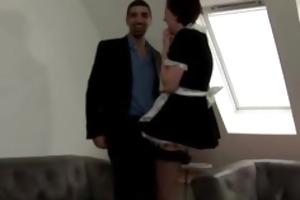 older european maid in stockings acquires