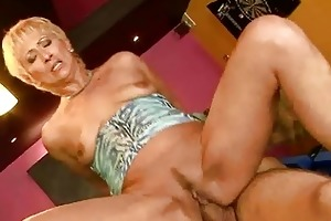 sexy granny engulfing and riding big youthful