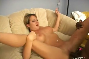 excited wife bitch cheats with a monster blacl