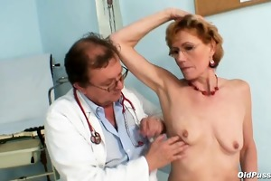 chic old lady mila needs gyno clinic investigation