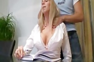 breasty german trainer acquires a lesson cook