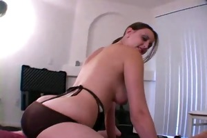 tugjob from breasty dilettante wife in sexy