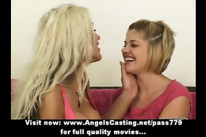amazingly hawt breasty lesbos undressing and