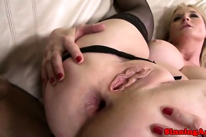 breasty older in nylons interracial ass fucked