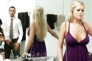 breasty blond darcy tyler blackmails her