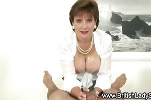 breasty aged lady sonia gives tugjob
