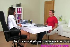 femaleagent man fucks and fails in securing work