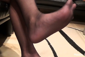 kimberly footplay in stockings