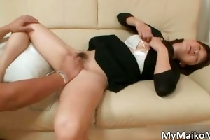 naughty oriental brunette hair hoe acquires a sex