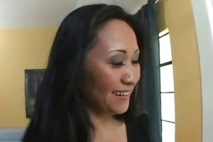 oriental mamma seduces sexy gardener