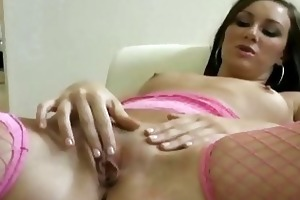 sexually excited wife masturbating on