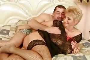 grandma enjoys worthy sex with her boyfriend