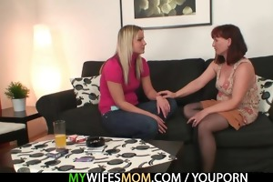 redhead mommy is drilled by her son in law