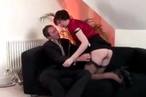 posh aged stockings hottie receives impure