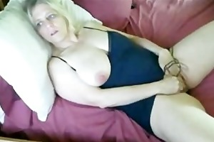 breasty mature toying.