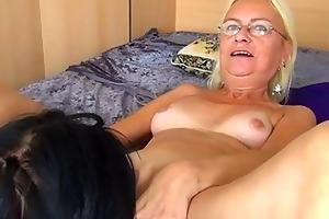 hawt youthful beauty licks and fucks granny