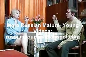 russian mama and chap having a swallow