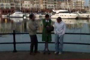 mature lady hooked up at the marina