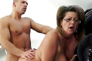 grandma and her youthful boyfriend making love