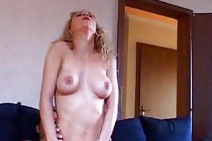 older blond with big pointer sisters sucks ramrod