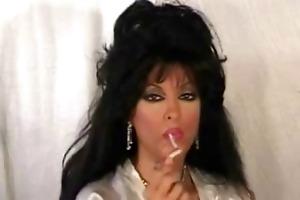 breasty mother i in satin smokin &; engulfing