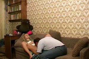 russian juvenile blonde angel receives screwed by