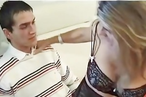 hot french housewife is screwed by a young guy