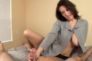 charlee speaking and jerking a dong on the couch
