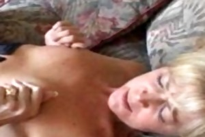 smutty mama in nylons acquires her cookie licked